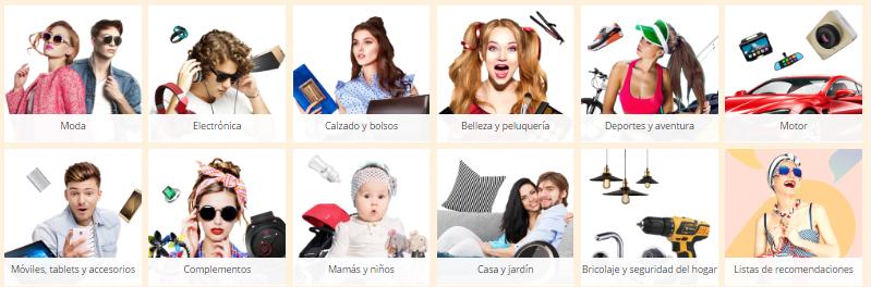 Categorías AliExpress