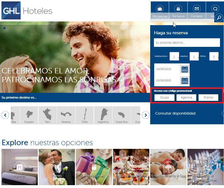 Descuento Códigos Promocionales GHL Hoteles